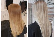 Blond inspiration / Hårfarvning