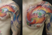 Flying Animals Tattoos / http://www.tattoosideas.co.uk/flying-animals-pictures.html