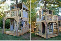 Playhouses + tree houses