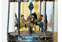 Juguetes antiguos decorativos