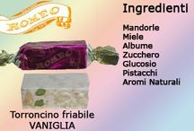 Torrone - Nougat / I nostri torroncini - A collection of our traditional and soft nougats.