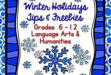 Teaching the Holidays / Look here fore fun holiday teaching ideas...Oh, yes, for secondary!