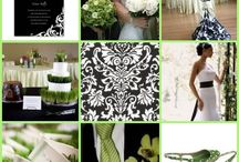 green & black wedding