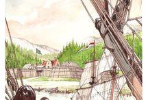 Boekillustraties / Tekeningen door Danker Jan Oreel