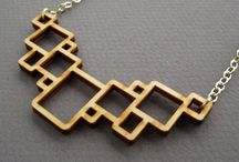 Laser cut Jewellery / Laser cut inspiration for jewellery making.