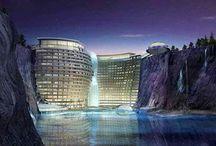 Arquitectura Utopica / Tablero que muestra proyectos ajenos a Mo.A, que sirven para expresar nuestras preferencias arquitectónicas