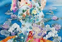 Beaux asiatiques tableaux