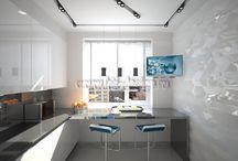 Дизайн интерьера кухни в стиле хай-тек / http://hti-design.ru/portfolio/projects/design-interiera-kuhny-v-stile-hi-tech/