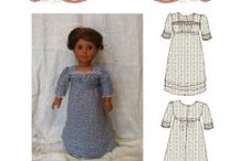 """Doll Patterns by Hint of History / Vintage-inspired sewing patterns for 18"""" dolls!"""