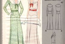 Vintage Patterns - The Small Envelope Collection / A collection of those rare but oh-so-special sewing patterns from the 1920's and early 1930's with small envelopes.