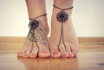Barefoot sandals / barefoot sandals, anklet jewelry, foot jewelry, yoga jewelry, foot thongs, bottomless shoes, beach wedding sandals