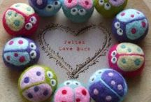 Felted for kids / Handmade toys for kids from wool and other natural materials.