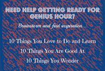 genius hour time!