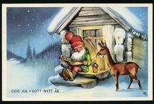 Julkort av Lars Carlsson / Julkort och illustrationer av Lars Carlsson (Christmas cards by Swedish artist Lars Carlsson)