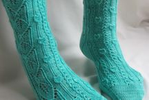 Socks: one colour/yarn / Socks with pattern, no basic socks / by Pirjo Salo