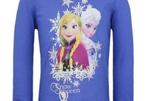 Longsleeves Frozen in 3 kleuren / Longsleeves en jurken uit de populaire Disney film Frozen