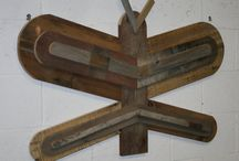 Reclaimed Wood Wall Art / Sometimes our imagination runs wild and we come up with another interesting item made from the tons of reclaimed wood stashed away in our shop. Reclaimed Wood...Crafted to Inspire!