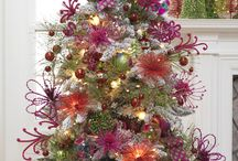 Christmas Trees - Blue/Purple/Pink Accents