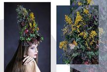 Kokoshnik / photo by Irina Nesmeyanova Floral design by Anya Lesnova Muah by Svetlana Sazonova Model Evgenija Globa