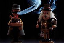 räuchermann  /  räuchermännchen / german smokers/rookmannetje / Leuke houten popjes
