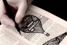 Caviardage / bookpaper art