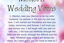 wedding vows/invitations