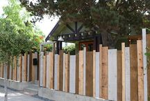 Garden - Fencing, Fences, furniture, sheds and raised beds / Ideas for fences, arbours, trellis and sheds in our garden.  Paint them?  Leave them?  High fences?  Low fences?  DIY?  Painted furniture? Decisions, decisions. (also lots of other garden boards too)  / by Girls Like