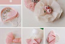 Flowers hand made / Tecido feltro, seda, organza ou algodão