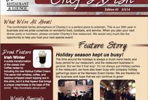 "eNewsletter / Charley's eNewsletter ""Chef's Dish"" was created to keep our customers informed of happenings at the restaurant and give them an inside scoop of our journey to retain the title of being one of Mankato's finest restaurants."