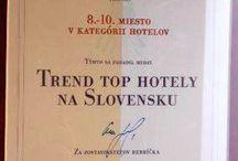 """Awards - Hotel Elizabeth (Trencin, Slovacchia) / L'Hotel Elizabeth Trencin riconosciuto fra i più trendy hotel della Slovacchia da """"Trend Top Hotely na Slovensku""""!  Merito anche dell'esclusiva Caracalla Spa, firmata WellnessToday!"""