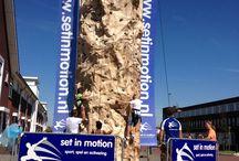 Klimwand / Mobiele klimwand van Attractieverhuur Set in Motion! www.setinmotion.nl #setinmotion