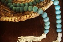 ...wooden bead garlands