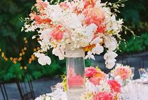 Coral Wedding Center Pieces and Florals  / Created by San Diego Events Intern Savannah