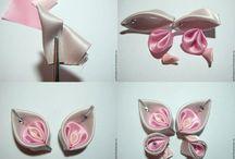 Kanzashi...fabric flowers / by Candye Bisbee
