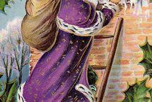 SANTA / Vintage images of Christmas Gift-givers (Santa Claus, Father Christmas, St-Nicolas etc.)