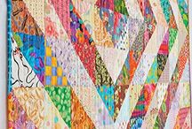 1/2 square triangle values quilt