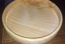"Leylandii / I rough turned a few wet, Leylandii bowls and stored them in wood shavings to allow them to dry out quicker, but in a controlled manner to prevent cracking.  I monitored the weight of a few of these rough turned bowls and one had been stable for a couple of weeks. found that ""simple is best"" with this wood and turning, a light sanding, sealing and finishing with a layer of carnauba wax gives an unexpectedly pleasing result."