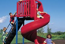 Slides / Slides give the thrill of play a whole new dimension! Both classic and new innovative slides are sure to give any playground any extra dose of fun. No room for a slide to attach to your structure? No problem! With our freestanding slides there is always a way to incorporate one into your playground!