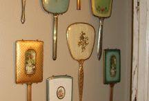 Vintage hand mirrors