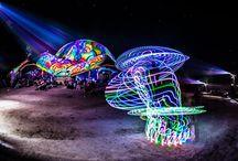 Ozora fesztivál 2015 - Dom projection - Night Projection fényfestés / Ozora fesztivál 2015 - Dom projection - Night Projection fényfestés