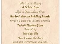 Fun & Games / Ideas to entertain guests between your ceremony & reception; or entertainment at the reception.