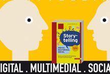 Buchgrafiken aus Storytelling Digital - Multimedial -Social / Grafiken und  Beispiel aus dem Buch