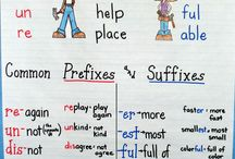 DC J/S 14-16 Prefixes/Suffixes / Prefixes, suffixes, root words, inflectional endings / by Julie Kozisek