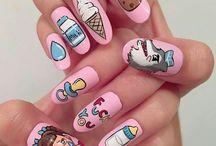 Kawaii/pastel goth nails