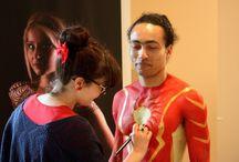Festival des couleurs 2016 Body painting / Animation Body-painting pendant le festival des couleurs, les couleurs ont une histoire. Le thème choisi par Milly la Forêt, le rouge.