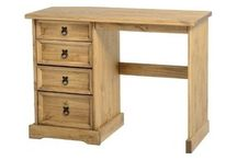 Dressing Table Solid Wood Pine Mexican Style Antique