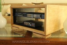 Wood handcrafted pieces / The modern 4U Amp case made out of Birch and Birch plywood