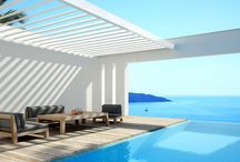 Louvered terrace covering - Algarve Roof / A stylish and functional solution to integrate in your architecture. Discover more: www.renson-outdoor.com