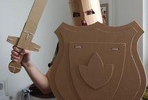 Cardboard workshop for KIDS / Muebles de cartón para niños, sistemas modulares, ingenio, diseño.