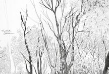 tree illustration / lovely tree drawings, illustrations, graphics or paintings